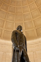 Looking up at the statue of Jefferson. Jefferson Memorial, Washington, D.C. - Photo #29096