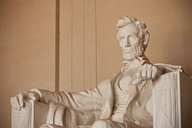 Sculpture of Lincoln. Lincoln Memorial, Washington, D.C. - Photo #29069