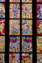 Stained glass in St Vitus Cathedral. Prague, Czech Republic. - Photo #29671