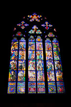 Stained glass window in St Vitus. Prague, Czech Republic. - Photo #29698