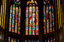 Stained glass windows in Saint Vitus Cathedral. Prague, Czech Republic. - Photo #29694