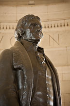 Bronze statue of Thomas Jefferson. Jefferson Memorial, Washington, D.C. - Photo #29108