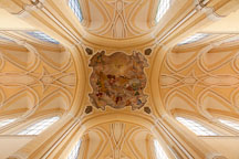 Ceiling of the Cathedral of the Assumption of our Lady. Sedlec, Czech Republic. - Photo #29761