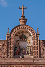 Architecture detail on the Cathedral. Cusco, Peru. - Photo #9231