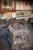 Tools in the blacksmith shop. Heritage Park, San Diego. - Photo #26331