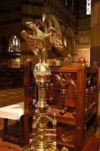 Brass lectern at St. Paul's Cathedral. Melbourne, Australia. - Photo #1531