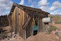 Shack with danger sign. Goldfield, Phoenix, Arizona, USA. - Photo #5531