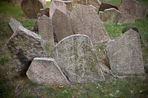 Gravestones in the Old Jewish Cemetery. Prague, Czech Republic. - Photo #29531