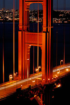 Close up of the north tower of the Golden Gate Bridge. San Francisco, California, USA. - Photo #11731