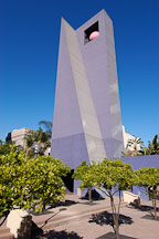 Purple bell tower at Pershing Square. Los Angeles, California, USA. - Photo #6531
