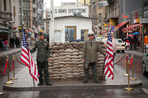 Checkpoint Charlie tourist attraction. Berlin, Germany. - Photo #30312