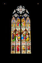 Colorful stained glass windows in the Cologne Cathedral. Cologne, Germany. - Photo #30699