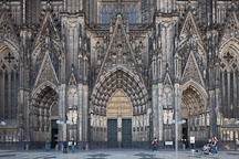 West entrance to the Cologne Cathedral. Cologne, Germany. - Photo #30793