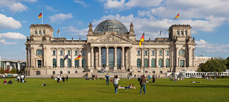 Panorama of the Reichstag. Berlin, Germany. - Photo #30607