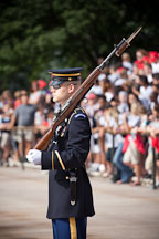 Guarding the Tomb of the Unknown Soldier. Arlington National Cemetery, Virginia. - Photo #29032