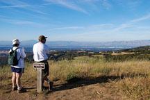 Hikers on Borel Hill. Russian Ridge Open Space Preserve. California, USA. - Photo #4332