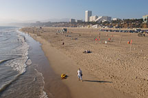 Santa Monica beach. Santa Monica, California, USA. - Photo #8232