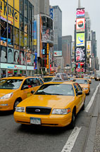 Taxis in Times Square. New York City, New York, USA. - Photo #13032