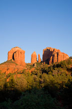 Late afternoon light on Cathedral Rock. Sedona, Arizona. - Photo #17632