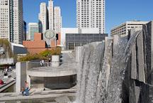 San Francisco Museum of Modern Art (SFMOMA) and the Martin Luther King Waterfall. San Francisco, California, USA. - Photo #12632