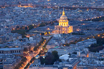 Aerial view of Invalides at night. Paris, France. - Photo #31509