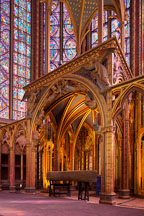 Interior of Sainte Chapelle. Paris, France. - Photo #31445