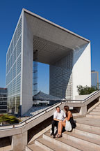 La Defense's Grande Arche. Paris, France. - Photo #31926