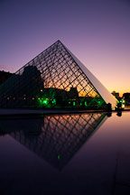 Louvre museum pyramid. Paris, France. - Photo #31665