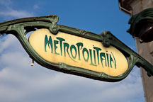 Metropolitain sign for the Paris subway. Paris, France. - Photo #31299