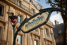 Paris Metro sign. Paris, France. - Photo #31301