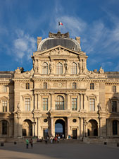 The Pavillon Sully at the Louvre. Paris, France. - Photo #31602