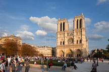 Place du Parvis and Notre Dame Cathedral. Paris, France. - Photo #31339