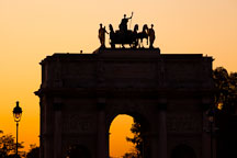 Silhouette of the Arc de Triomphe du Carrousel. Paris, France. - Photo #31649