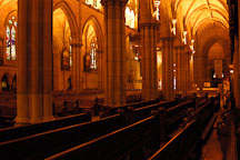 Pews at St. Mary's Cathedral, Sydney, Australia. - Photo #1433