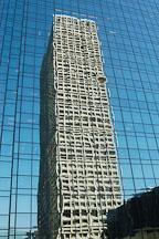Reflection of a skyscraper. Los Angeles, California, USA. - Photo #7933
