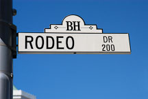 Rodeo drive street sign. Beverly Hills, California, USA. - Photo #7133