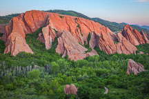 Rock formations at Roxborough State Park, Colorado. - Photo #37933