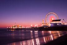 Santa Monica pier, at night. Santa Monica, California, USA. - Photo #8333