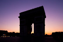 Silhouette of the Arc de Triomphe. Paris, France. - Photo #31133