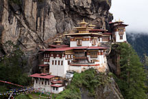 Taktshang Goemba (Tiger's Nest) monastery contains seven temples which can be visited. Paro Valley, Bhutan. - Photo #24233