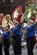 Marching band. San Jose Holiday Parade. San Jose, California, USA. - Photo #5134