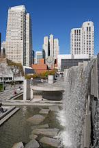 Martin Luther King Waterfall and SFMOMA. Yerba Buena Gardens, San Francisco, California, USA. - Photo #12634