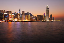 Sunset over Hong Kong Island. Hong Kong, China. - Photo #15934