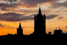 Sunset on Gross St Martin. Cologne, Germany. - Photo #30734