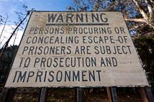 Warning sign. Alcatraz, California. - Photo #28934