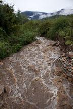 Flooding caused by heavy rains. Paro, Bhutan. - Photo #24035