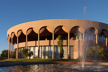 Fountain and Grady Gammage Memorial Auditorium. Tempe, Arizona. - Photo #5235