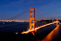 Golden Gate Bridge as viewed from Battery Spencer. San Francisco, California, USA. - Photo #11735
