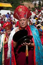 Monk with cymbals. Thimphu tsechu, Bhutan. - Photo #22435