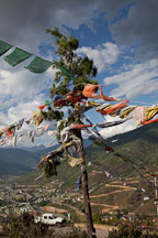 Prayer flags. Thimphu, Bhutan. - Photo #23035